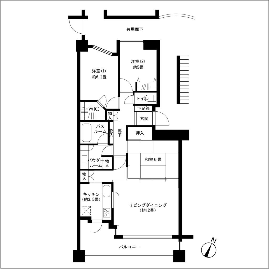ブロッサムガーデンⅣ番館3階